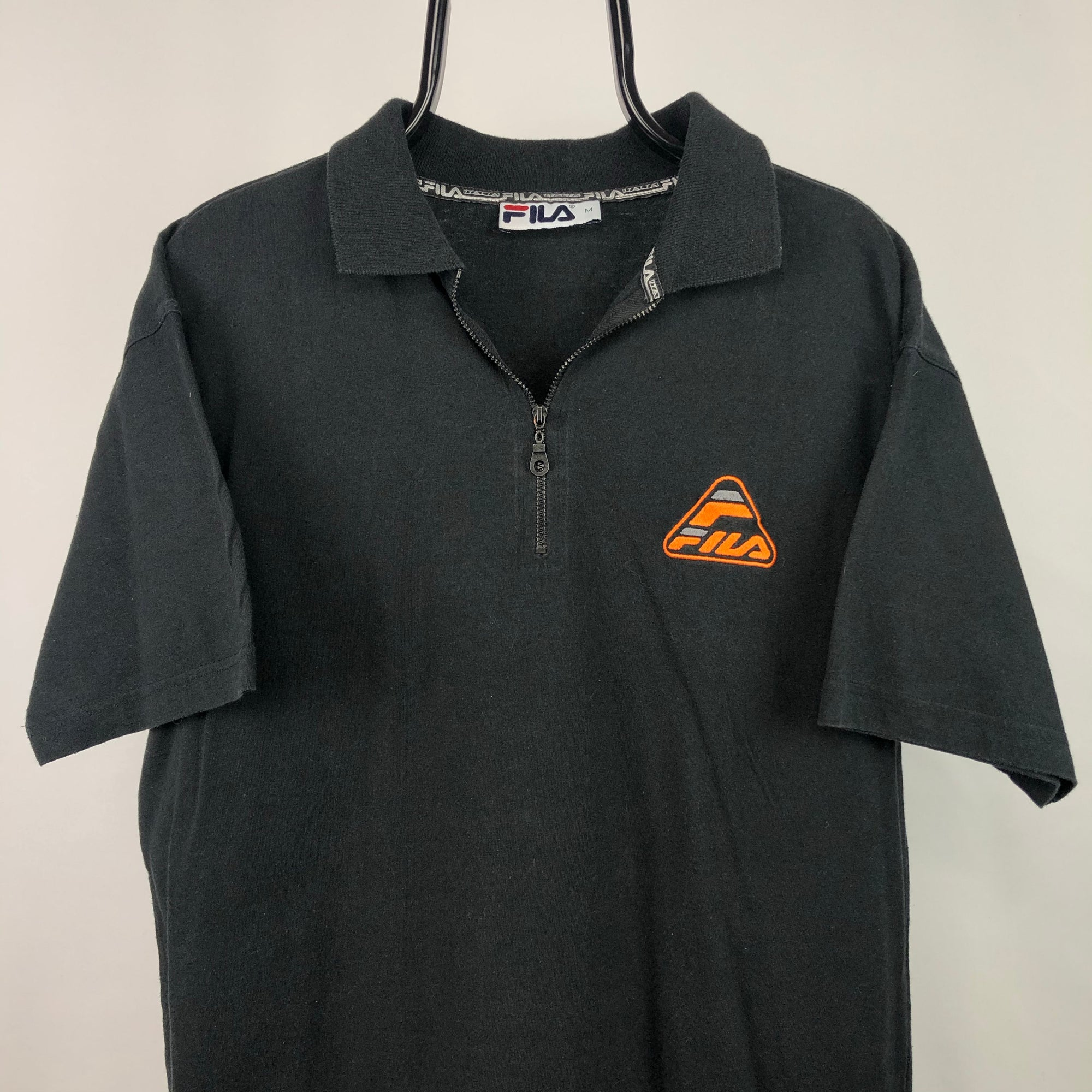 Vintage Fila Zip Up Polo Shirt - Men's Large/Women's XL