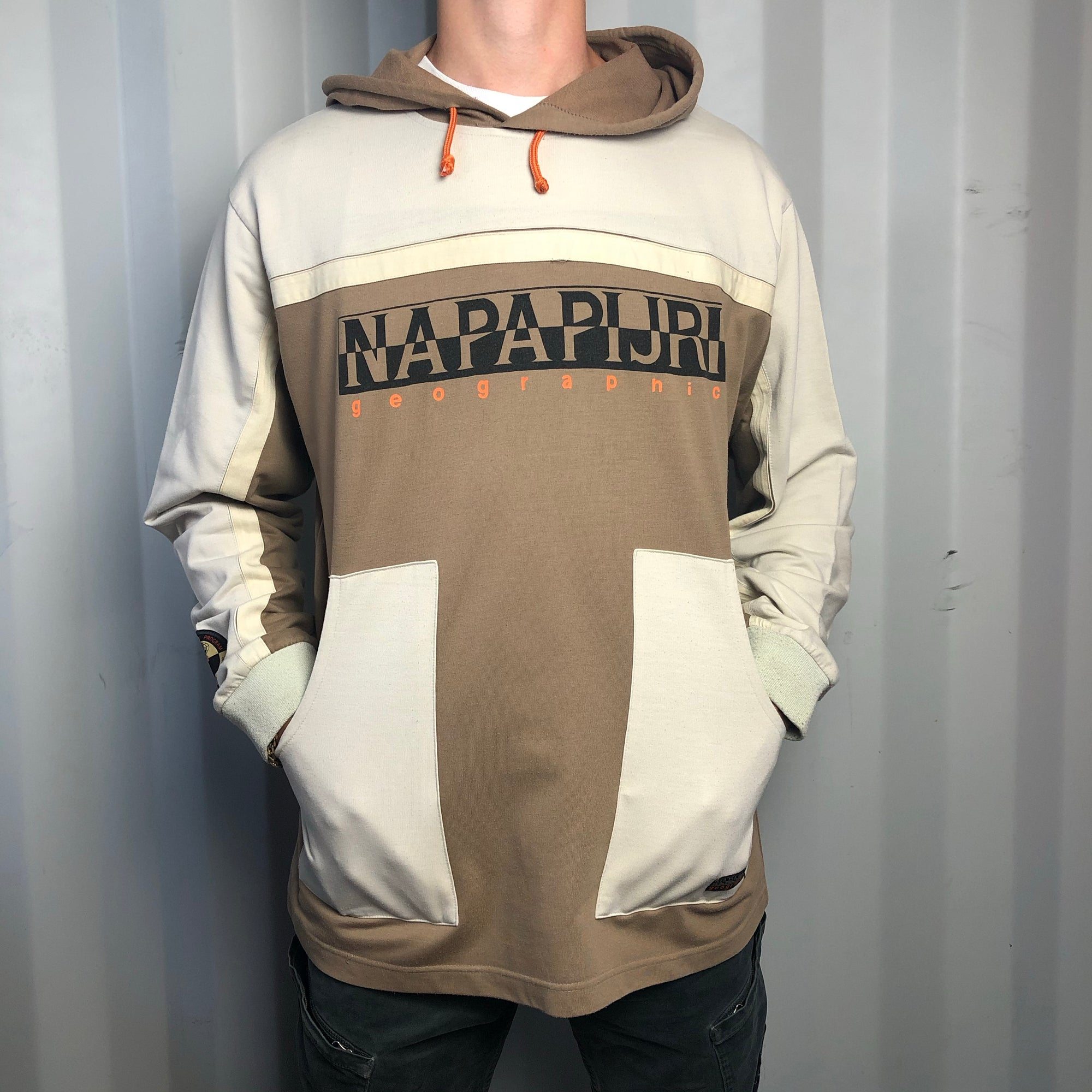 Vintage Napapijri Spellout Hoodie - Antarctic Research Program