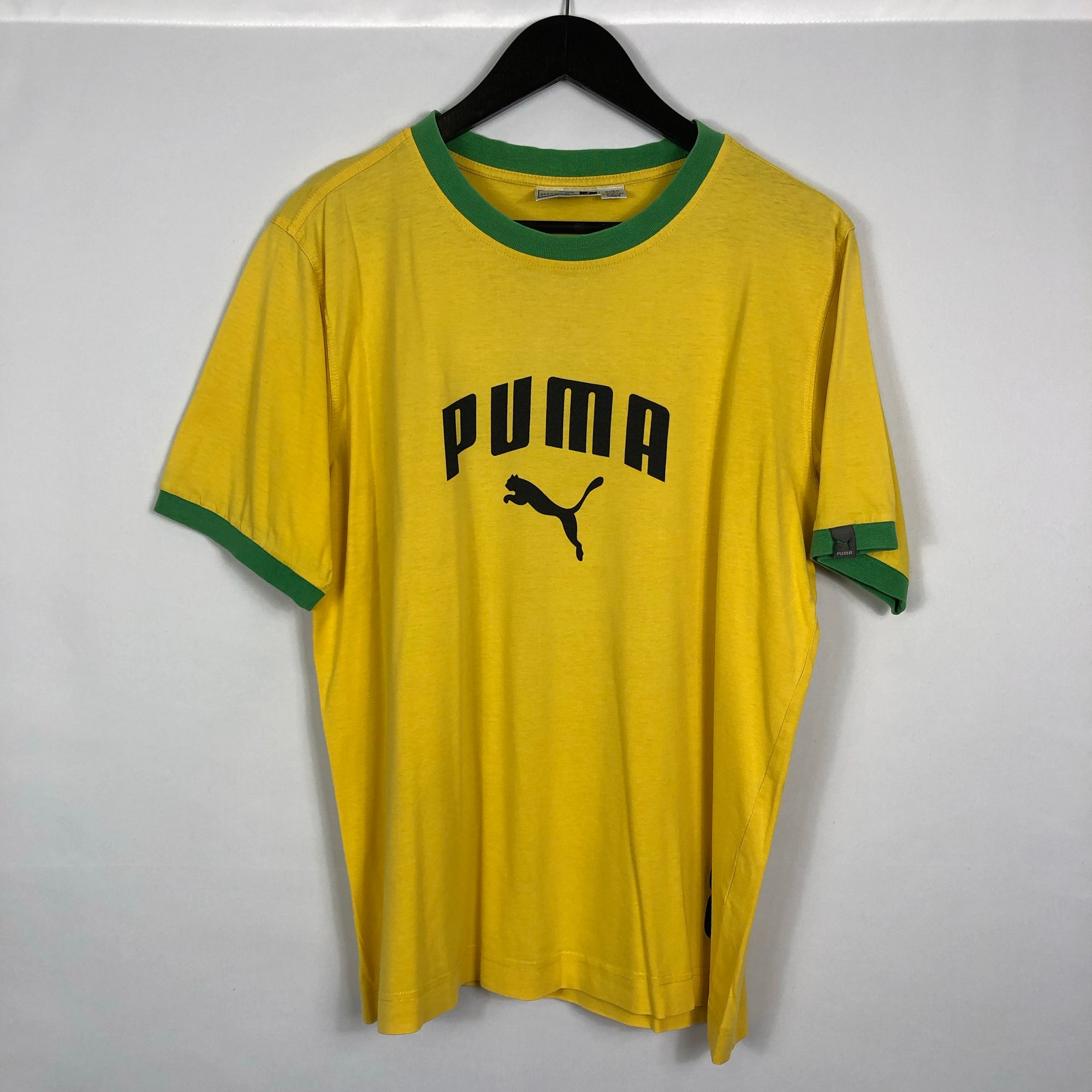 Puma Tee in Yellow & Green - Men's Medium/Women's Large