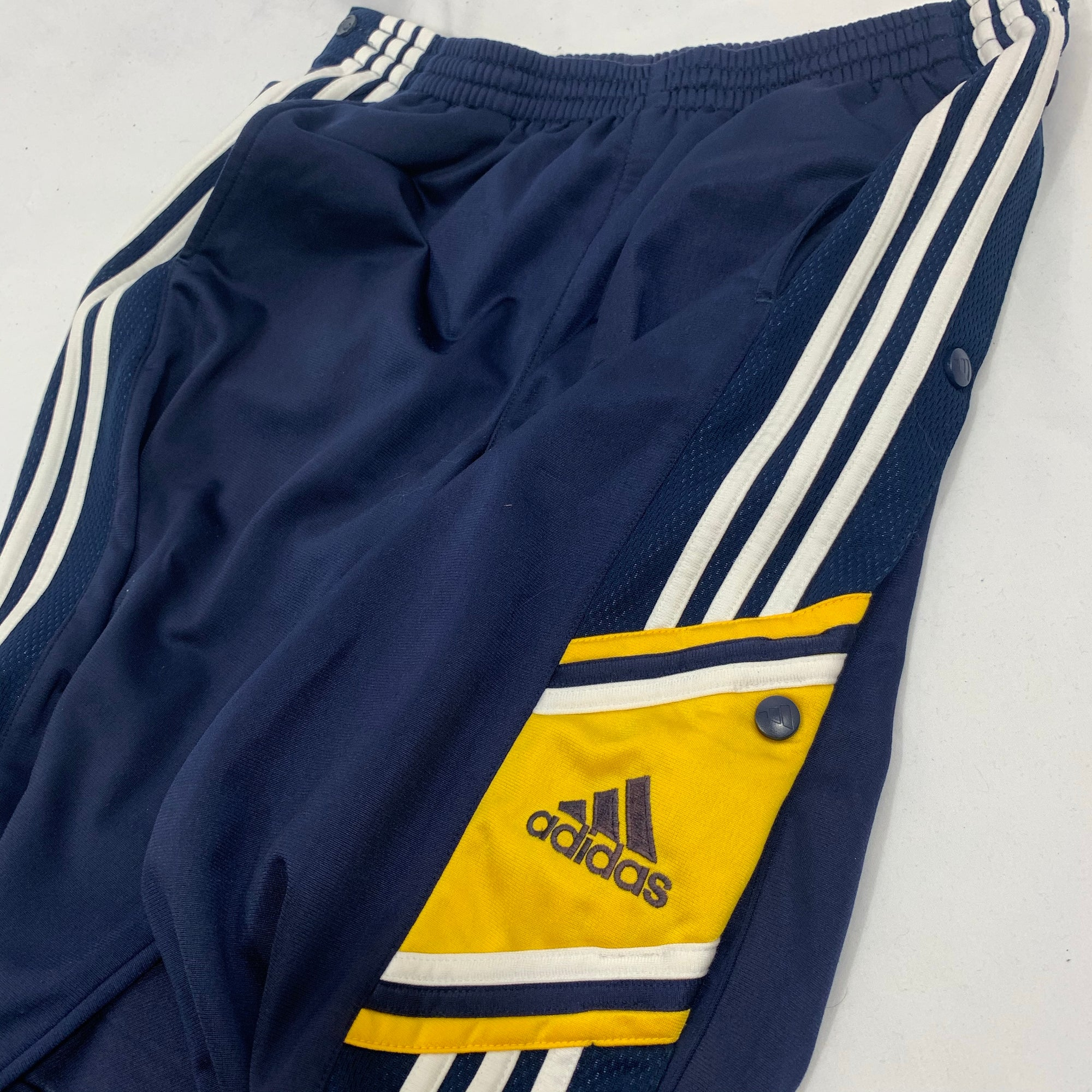 Vintage Adidas Popper Track Pants - Medium