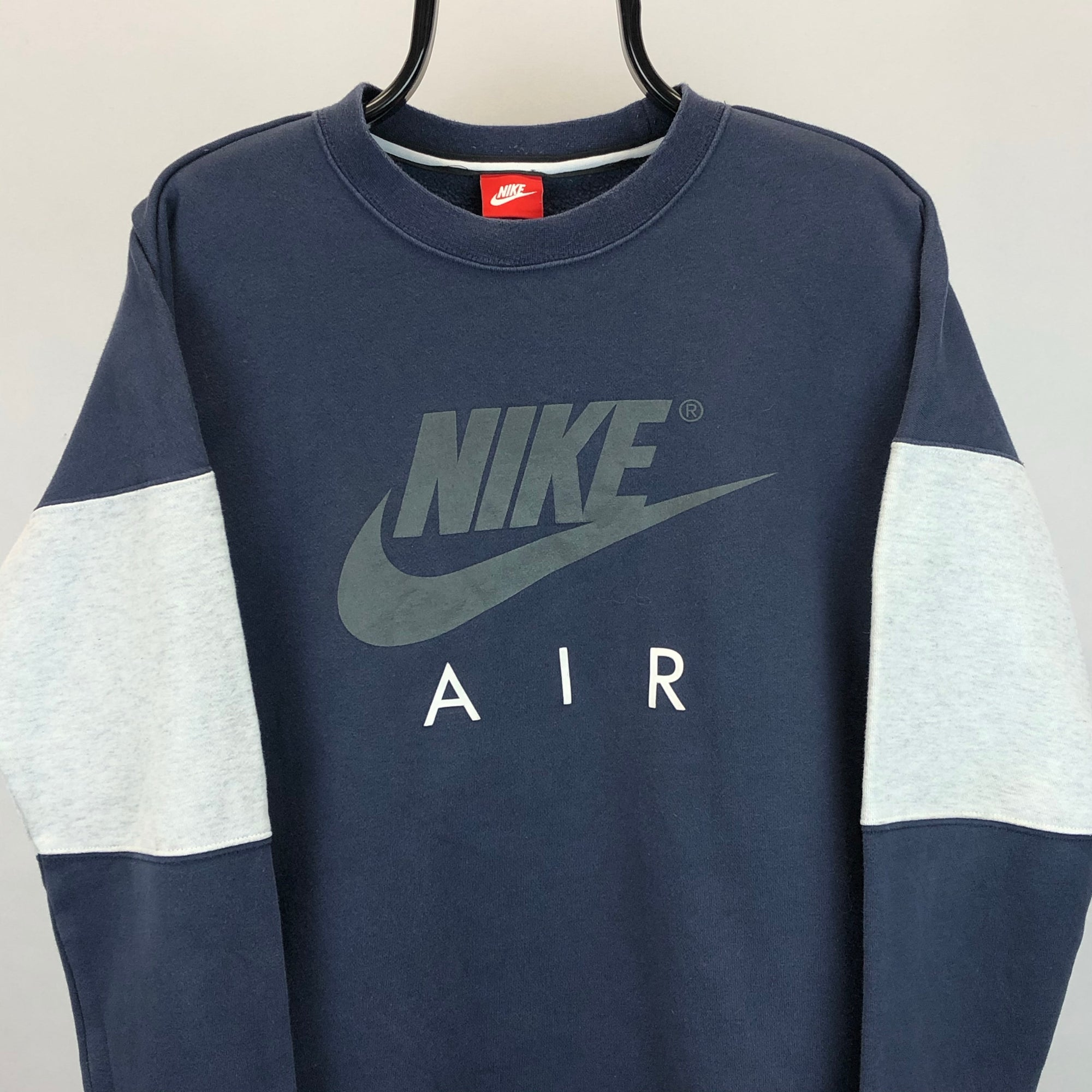 Nike Air Spellout Sweatshirt in Navy & Grey - Men's Medium/Women's Large
