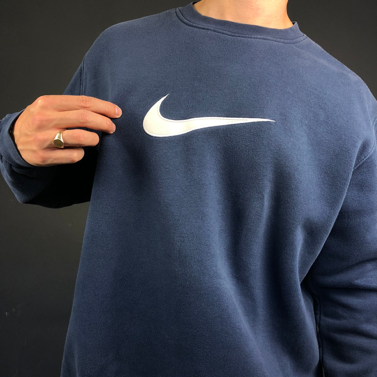 Vintage Nike Sweatshirt with Embroidered Swoosh - XL