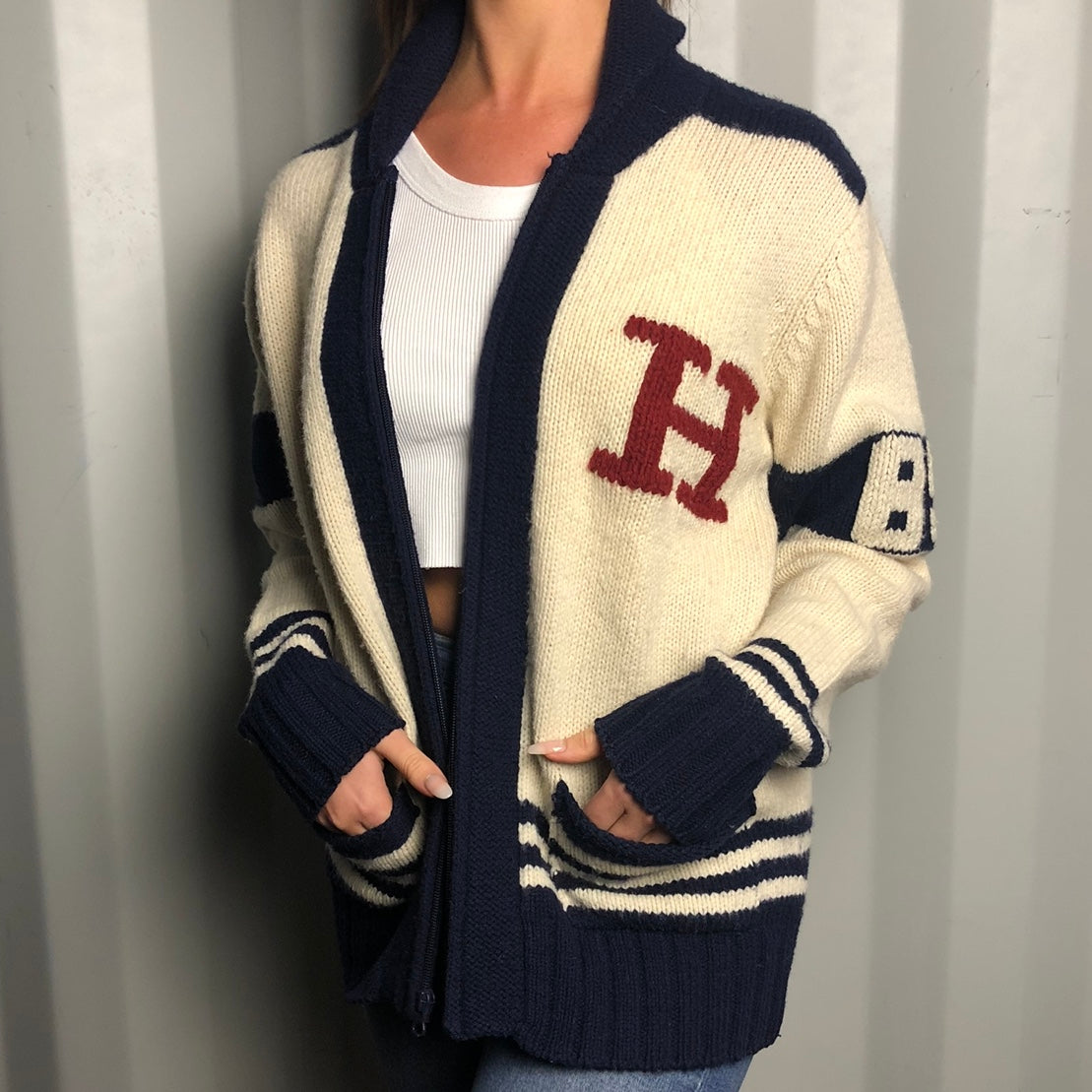 Vintage Tommy Hilfiger Knitted Wool Cardigan