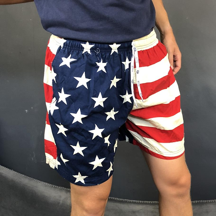 80s / 90s Vintage American Flag Graphic Shorts - Medium - Vintique Clothing
