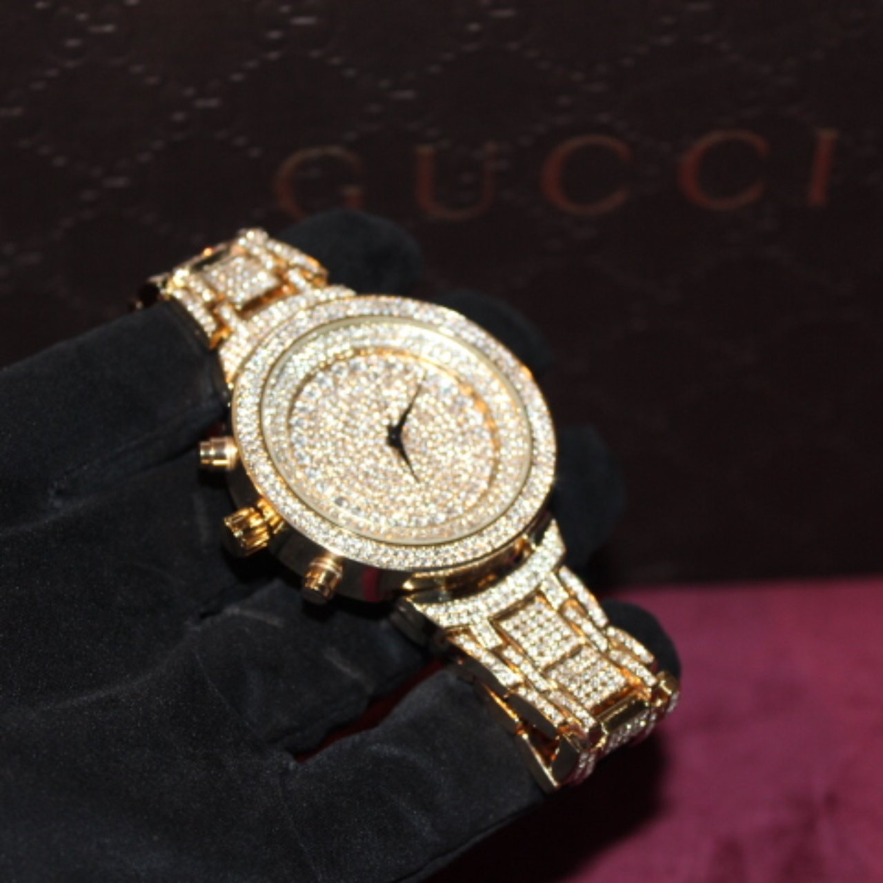 XL Gold Fully Iced Out Men's Watch - Vintique Clothing