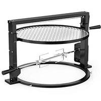 onlyfire Santa-Maria Style Grill Rotisserie System Adjustable Cooking Grate Attachment for Weber 22 inch Kettle Grills Backyard Grilling