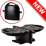 NOMADIQ Portable Propane Gas Grill | Perfect for Outdoor Cooking, Camping, Tailgate, RV, Roadtrip | 2 Burner Tabletop BBQ | Small and Lightweight