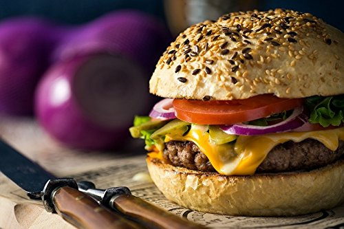 22 Half Pound Premium Beef Steak Burgers - Juicy Grilled Burgers made from USDA Choice Angus Beef, Chicago Steakburgers, Angus Beef BBQ Burger, Gourmet Burger Steak Set, Flash Frozen Beef Burgers