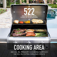 Kenmore PG-4030400LD-AZ-AM 3 Burner Outdoor Patio Gas BBQ Propane Grill, Azure