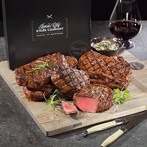 Signature Gift Boxed Steak Set with 3 Exceptional Cuts from Kansas City Steaks. The Perfect Gift for Grill Lovers