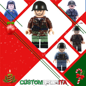 Pacchetto Natale WWII Custom Minifigures