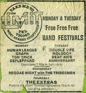 Def Leppard support the Human League at the Limit