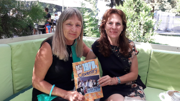 Ruth Cherrington (left) and her 'Dirty Stop Out's Guide to 1970s Coventry'