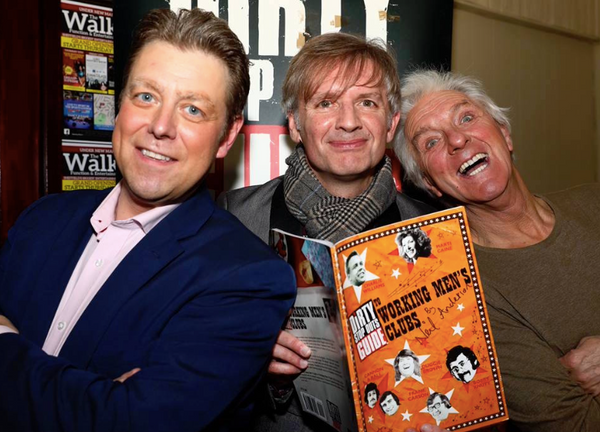 Author Neil Anderson (centre) and the Grumbleweeds