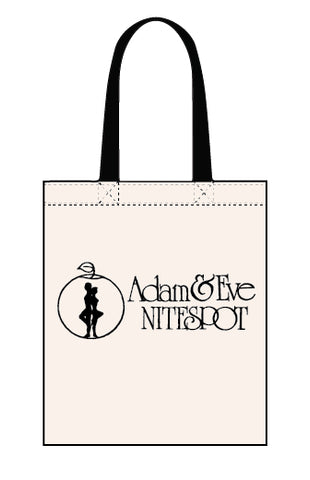 Tote bag celebrating Chesterfield's Adam & Eve
