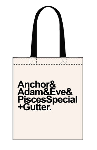 Anchor to Adam & Eve canvas tote bag