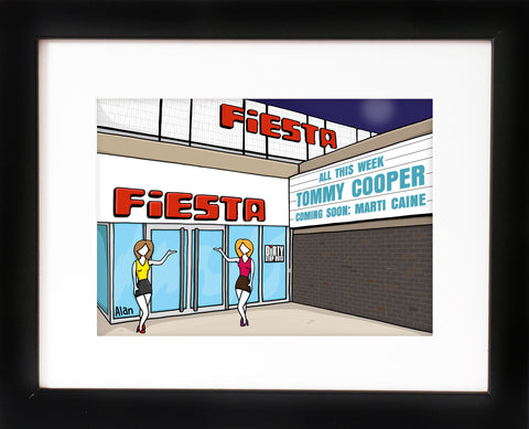 Fiesta cabaret club - signed Alan Pennington art print - framed  - with FREE UK postage