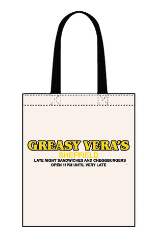 Greasy Vera's canvas tote bag