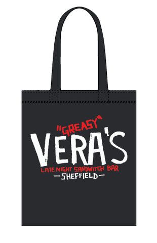 Greasy Vera's original logo canvas tote bag