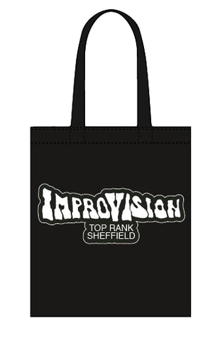 Improvision canvas tote bag