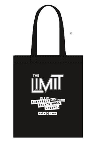 Limit canvas tote bag