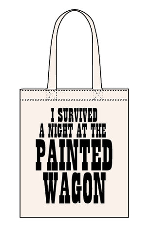Painted Wagon canvas tote bag