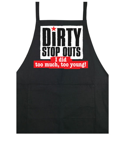 """I did too much, too young"" - cooking apron"