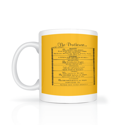 The Penthouse (flyer) mug