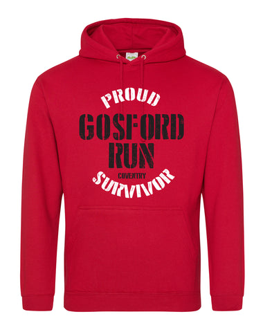 Proud Gosford Run Survivor unisex fit hoodie - various colours
