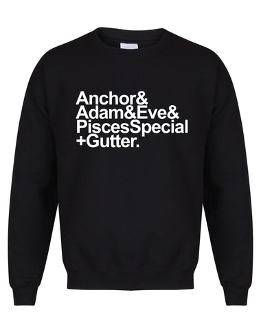 Anchor to Adam & Eve unisex sweatshirt - various colours