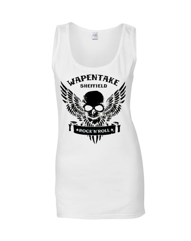 Wapentake skull/wings ladies fit vest - various colours