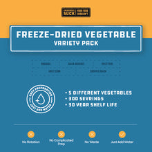 Load image into Gallery viewer, Freeze-Dried Vegetable Variety Pack (356 Servings)