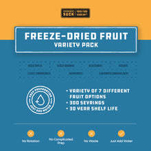 Load image into Gallery viewer, Freeze-Dried Fruit Variety Pack (378 Servings)