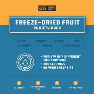 Freeze-Dried Fruit Variety Pack (378 Servings)