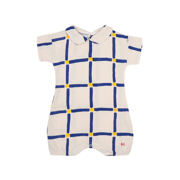 Cube All Over Woven Playsuit