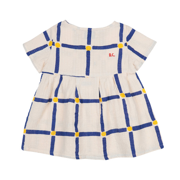 CUBE ALL OVER, BUTTONED DRESS