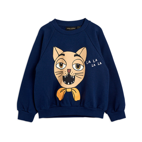 CAT CHOIR SWEATSHIRT, DARK BLUE