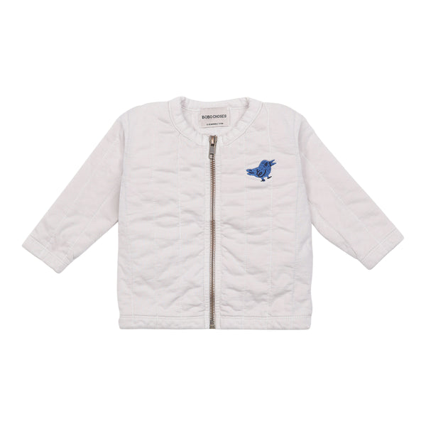 BIRD QUILTED ZIPPED SWEATSHIRT