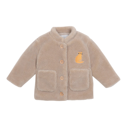 CAT PATCH SHEEPSKIN JACKET