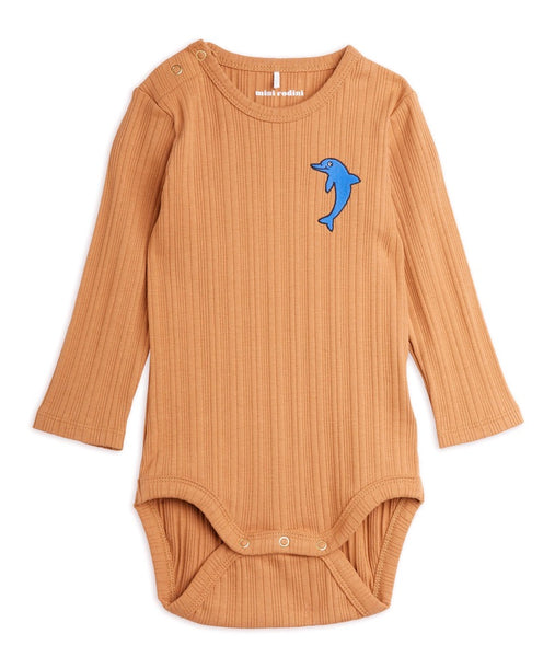DOLPHIN EMBROIDED BODY, BEIGE