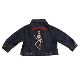 DENIM SKELETON JACKET, DARK BLUE