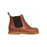 STARTER CHELSEA BOOT WITH ELASTIC AND ZIPPER, COGNAC/BROWN
