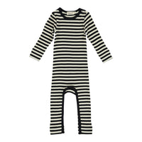 JUMPSUIT, STRIPES BLACK/WHITE