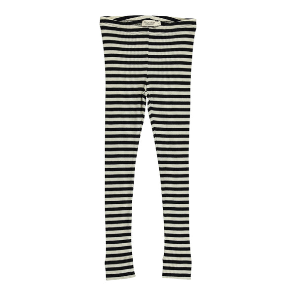 LEGGINGS, STRIPES BLACK/WHITE