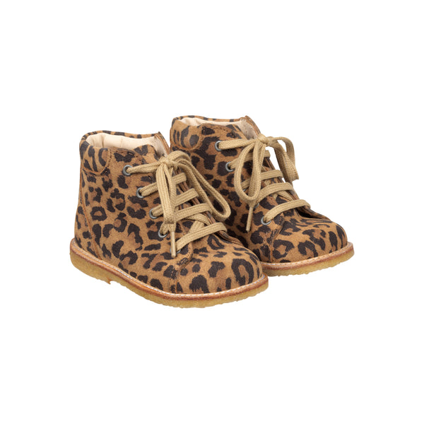 STARTER BOOT WITH LACES, LEOPARD