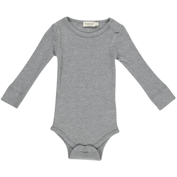 PLAIN BODY LS, GREY MELANGE