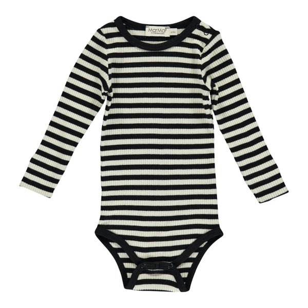 PLAIN BODY LS, STRIPES BLACK/WHITE