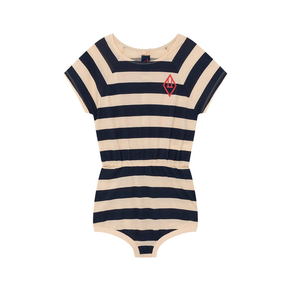 RABBIT BABY BODY, PEACHY STRIPES