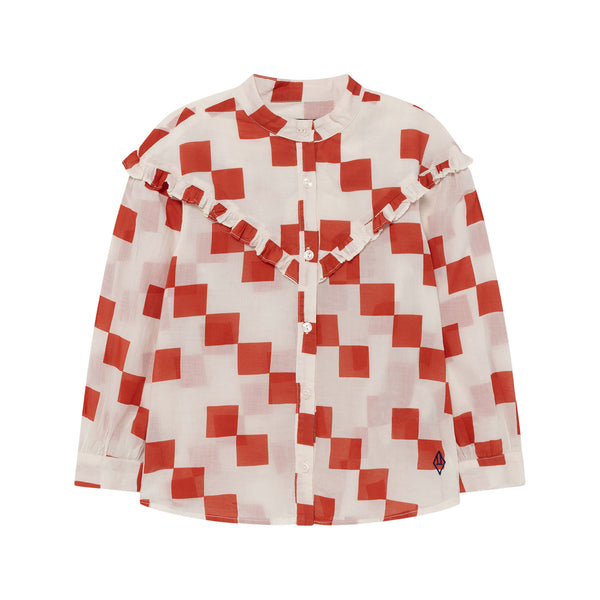 CUCKOO KIDS BLOUSE, WHITE SQUARES