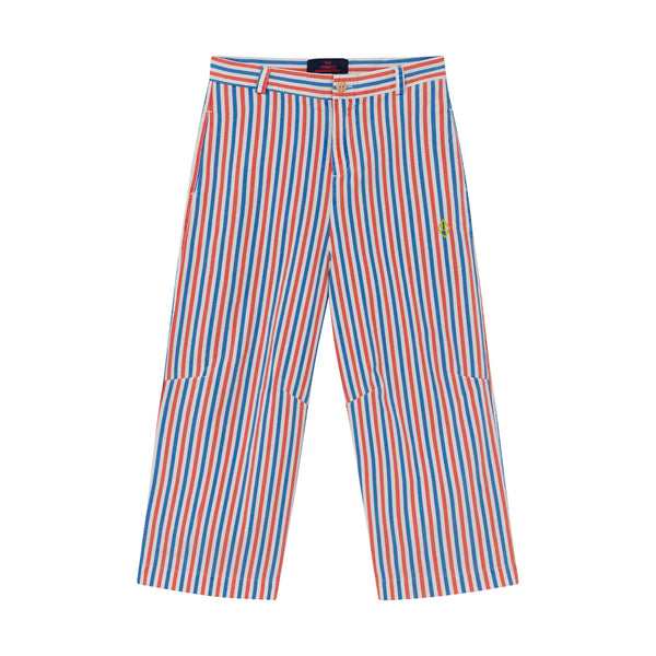 CAMEL KIDS TROUSERS, WHITE STRIPES